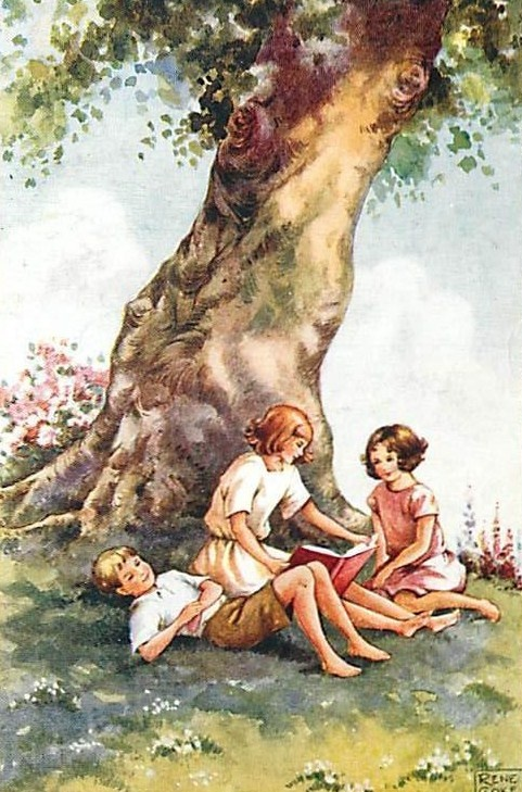 reading under the tree